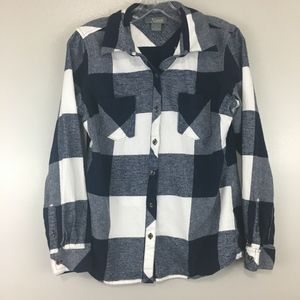 Natural Refections Plaid Flannel Button Down